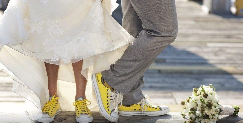Свадебный наряд с обувью