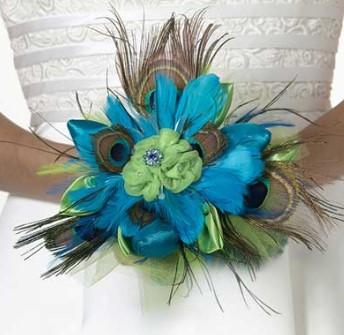 букеты свадьба эффектные перья