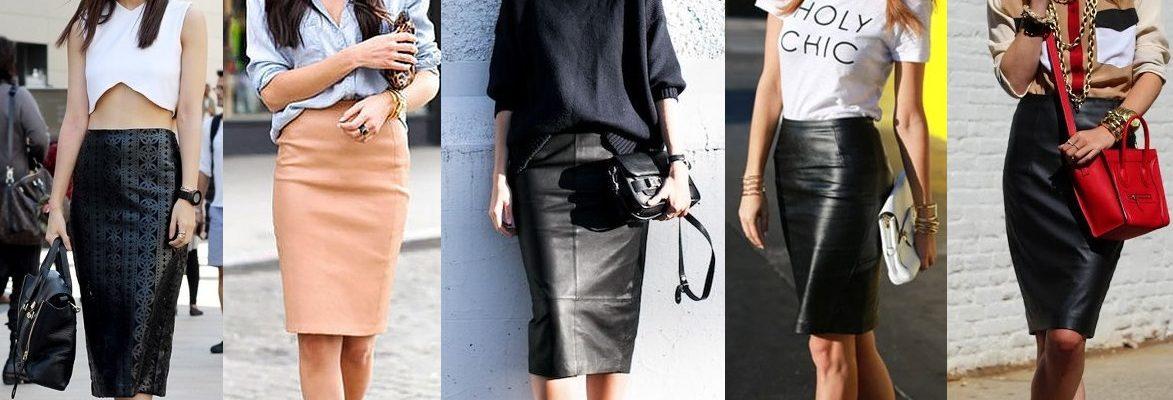 698277 original 1173x400 - Кожаная юбка. Стильные варианты на осень.