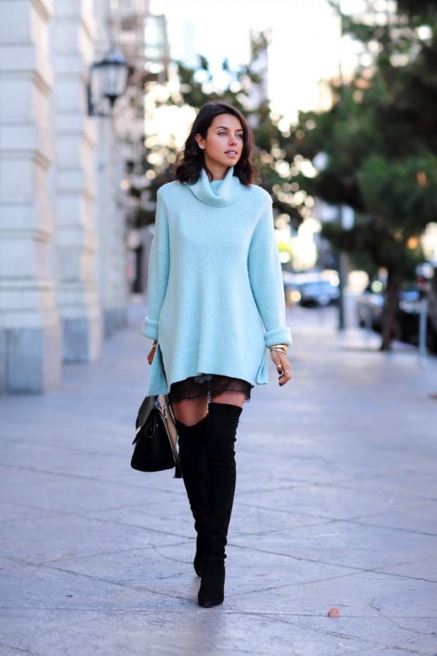 Как носить свитер оверсвйз. 5 основных правил