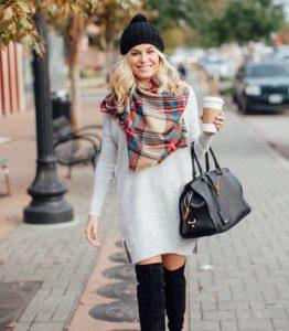 0gdIfbi 262x300 - Как носить шарф-плед и выглядеть стильно