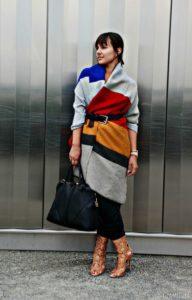 8f4fd7bddbedfe9968fb1b02ab2e3f99 192x300 - Как носить шарф-плед и выглядеть стильно