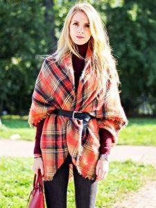 UsorYGh 225x300 - Как носить шарф-плед и выглядеть стильно