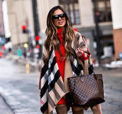 e307e6809b869bb912930b84590f85e8 428x400 - Как носить шарф-плед и выглядеть стильно