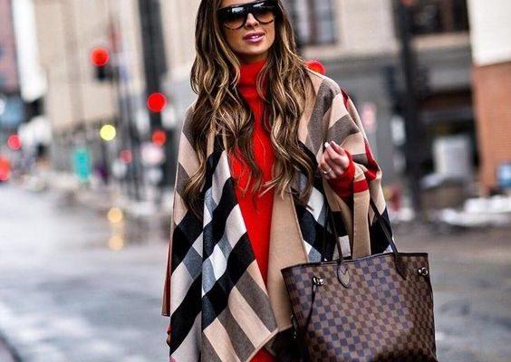 e307e6809b869bb912930b84590f85e8 564x400 - Как носить шарф-плед и выглядеть стильно