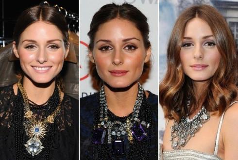 olivia palermo wearing statement bold necklaces - Секреты стиля от Оливии Палермо