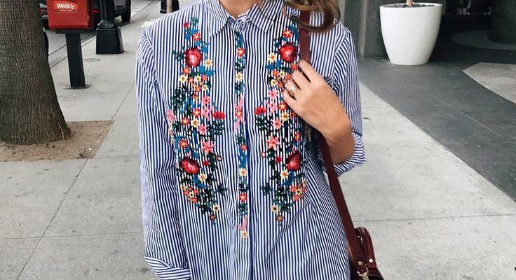 6c150622ea4d346e34726795db9179d8 shirt floral floral embroidery shirt 736x400 - Модный тренд-цветочная вышивка. Составляем стильные образы.