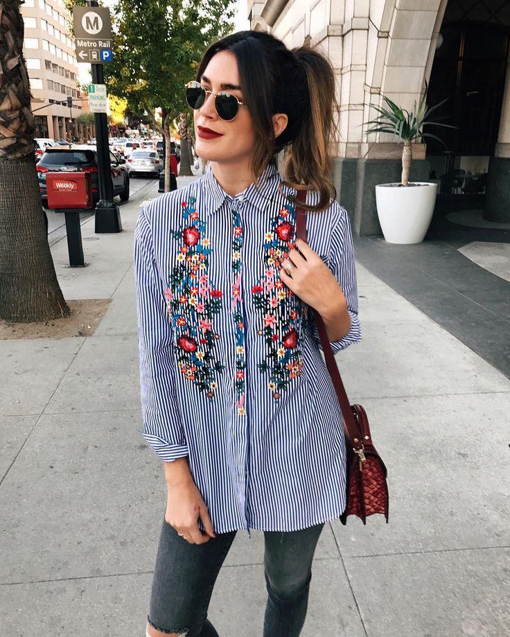 Модный тренд-цветочная вышивка. Составляем стильные образы.