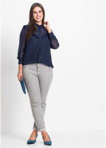 bluzka iz shifona v goroshek 214x300 - Как носить блузку после 40: 5 блузок, в которых вы будете выглядеть моложе