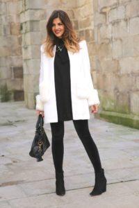 s chem nosit beloe palto 25 200x300 - Как сочетать черный с белым и выглядеть нескучно