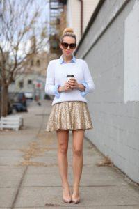 Sequin Skirts Best Street Style Looks 5 200x300 - 8 правил выбора идеальных туфель телесного цвета