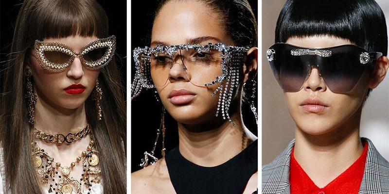 spring summer 2019 sunglasses eyewear trends bejeweled sunglasses 800x400 - Модные тенденции солнцезащитных очков на весну-лето 2019