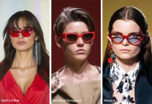 spring summer 2019 sunglasses eyewear trends red framed sunglasses 300x207 - Модные тенденции солнцезащитных очков на весну-лето 2019