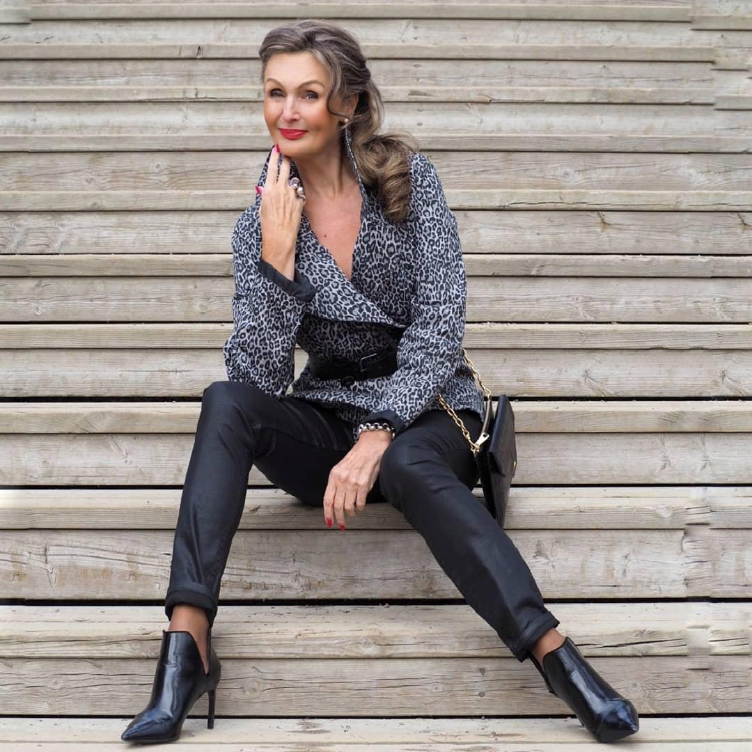 Как в 58 выглядеть на 35: секреты стиля от финской модели в зрелом возрасте